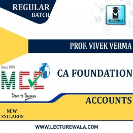 CA Foundation Accounting Regular Course: Video Lectures + Study Materials by Prof. Vivek Verma (For May 2021)