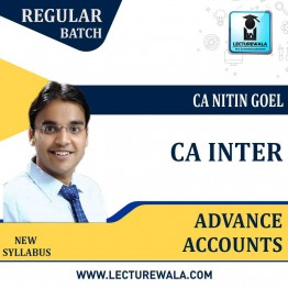 CA Inter Advance Accounts In English Regular Course : Video Lecture + Study Material By CA Nitin Goel (For Nov. 2021 & May 2021)
