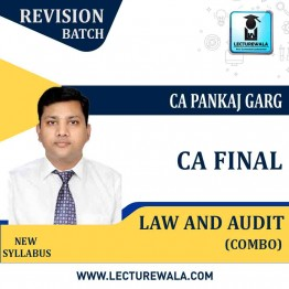 CA Final Corporate & Economic Laws & Advance Audit Revision Course Combo (Pre-Booking) : Video Lecture + Study Material by CA Pankaj Garg (For May / Nov. 2021 & May / Nov. 2022)