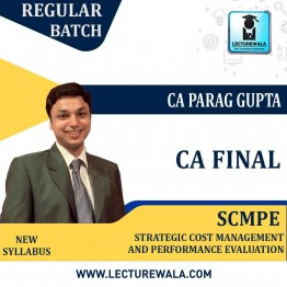 CA Final SCMPE Hindi with English Language : Video Lecture + Study Material By CA Parag Gupta (For  Nov. 2021)