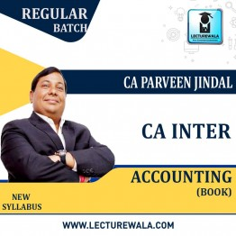 CA Inter Accounting Group-1  Book : Study Material By CA Parveen Jindal (For May 2021 & Nov. 2021)