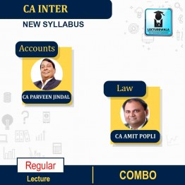 CA Inter Law and Accounts New Syllabus Regular Course : Video Lecture + Study Material by CA Amit Popli And CA Parveen Jindal (For May & Nov.2021)