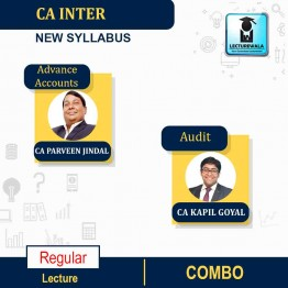 CA Inter Audit & Adv. Accounts New Syllabus Regular Course : Video Lecture + Study Material by CA Kapil Goyal And CA Parveen Jindal (For Nov.2021 & May 2022)