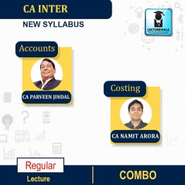 CA Inter Costing & Accounts Combo New Syllabus Regular Course : Video Lecture + Study Material by CA Namit Arora And CA Parveen Jindal (For May & Nov.2021 & May 2022)
