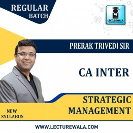CA Inter Strategic Management Regular Course : Video Lecture + Study Material By Prerak Trivedi Sir (For May 2021)