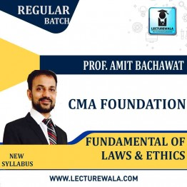 CMA Foundation Fundamental Of Law & Ethics : Video Lecture + Study Material By CA Amit Bacchawat (For Dec. 2021)