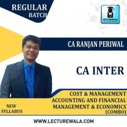 CA Inter Costing And FM Eco Combo Regular Course : Video Lecture + Study Material by CA Ranjan Periwal (For May 2021 and Nov. 2021)
