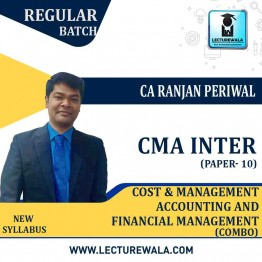 CMA Inter Cost & Management Accounting And Financial Management Combo  Regular Course : Video Lecture + Study Material by CA Ranjan Periwal (For Dec. 2021 and June 2021)