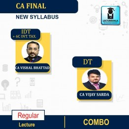 CA Final Direct Tax + Indirect Tax + 6C INT. TAX Regular Course : Video Lecture + Study Material By CA Vishal Bhattad & CA Vijay Sarda (For Nov. 2021)