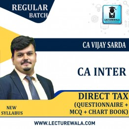 CA Inter DT Questionnaire + MCQ + Charts Book : Study Material By CA Vijay Sarda (For Nov. 2020)