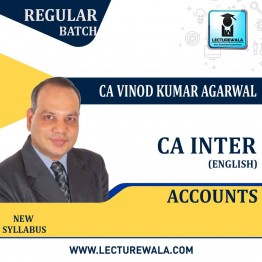 CA Inter Accounts Regular Course In English : Video Lecture + Study Material By CA Vinod Kumar Agarwal (For May 2021 & Nov 2021)