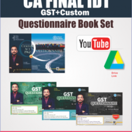 CA Final IDT Questionnaire + MCQ  Book Set : Study Material By CA Vishal Bhattad (For May 2021)