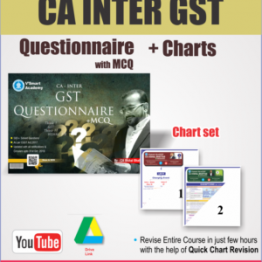 CA Inter GST Questionaire With MCQ And Charts Book Set : Study Material By CA Vishal Bhattad (For May 2021)