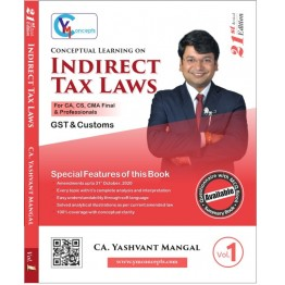 CA Final Indirect Tax Questionnaire + MCQ Book : Study Material By CA Yashvant Mangal (For May 2021)