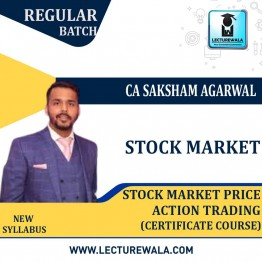 Stock Market Price Action Trading Certificate Course : Video Lecture + E-Book BY CA Saksham Agarwal (For May 2021)