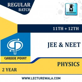 Physics Video Lectures & Online Test Series(11th+12th) | JEE & NEET | Validity 2 Yrs | Medium : Mixed Language (E & H) | By Career Point