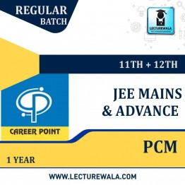 Video Lectures & Online Test Series for JEE Mains & Adv | PCM (11th+12th) | Validity 1 Yr | Medium : Mixed Language (E & H) | By Career Point