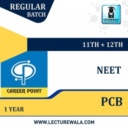 Video Lectures & Online test Series for NEET | PCB (11th+12th) | Validity 1 Year | Medium : Mixed Language (E & H) | By Career Point