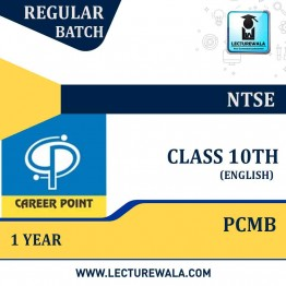 Video Lecture for NTSE | Validity : 1 yr | Covers : Class 10 PCMB | Medium : English Language | By Career Point