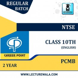Video Lecture for NTSE | Validity : 2 yrs | Covers : Class 10 PCMB | Medium : English Language | By Career Point