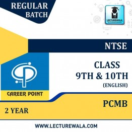 Video Lecture for NTSE | Validity : 2 yrs | Covers : PCMB Class 9 & 10 | Medium : English Language | By career Point