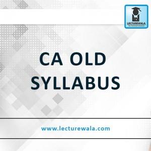 CA Old Syllabus