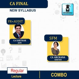 CA Final FR and Audit and SFM (Rapid) New Syllabus Fast Track Combo : Video Lecture + Study Material By CA Sarthak Jain and CA Archana Khetan  (For May 2021 to Nov. 2021)