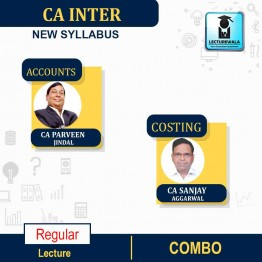 CA Inter Costing (Latest Rec.) & Accounts Combo New Syllabus : Video Lecture + Study Material by CA Sanjay Aggarwal & CA Parveen Jindal  (For Nov. 2021 & May 2022)