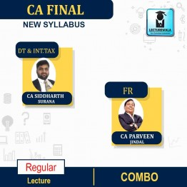 CA Final Direct Tax + International Tax And FR Combo  Regular Course : Video Lecture + Study Material By CA Siddharth Surana & CA PARVEEN JINDAL (For MAY 2021 TO NOV.2021)