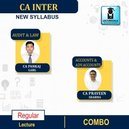 CA Inter Audit and LAW ACCOUNTS AND ADV.ACCOUNTS COMBO  New Syllabus Regular Course : Video Lecture + Study Material By CA Pankaj Garg &  CA PRAVEEN SHARMA  for (may 2021 to nov.2021)