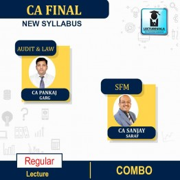 CA FINAL Audit and LAW(Aug. 2020 Batch) & SFM  COMBO  New Syllabus Regular Course : Video Lecture + Study Material By CA Pankaj Garg &  CA SANJAY SARAF For  (may 2021 to nov.2021)