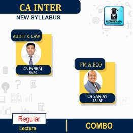CA Inter Audit and LAW FM & ECO. COMBO  New Syllabus Regular Course : Video Lecture + Study Material By CA Pankaj Garg &  CA SANJAY SARAF For  (may 2021 to nov.2021)