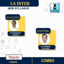CA Inter Costing (Latest Rec.) and Adv.Accounts Regular Course New Syllabus : Video Lecture + Study Material by CA Sanjay Aggarwal & CA Praveen Sharma  (For May 2021 & Nov. 2021 & Onwards)