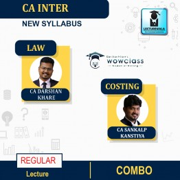 CA Inter Law and Costing Regualr Combo New Syllabus Regular Course : Video Lecture + Study Material By CA Sankalp Kanstiya & CA Darshan Khare (For Nov.2021 & May 2022)