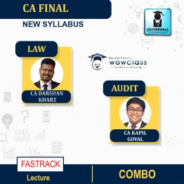 CA Final Law & Audit New Syllabus Fastrack Combo : Video Lecture + Study Material By CA Darshan Khare  and CA Kapil Goyal [Combo CA India]( Nov 2021 & May 2022)