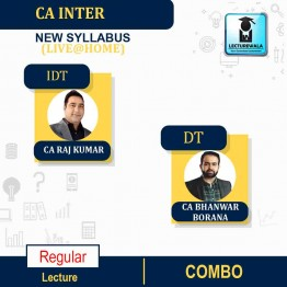 CA Inter DT + IDT (paper 4) Live @ Home (Pre - Order) Regular Course : Video Lecture + Study Material by CA Raj Kumar and CA Bhanwar Borana (For MAY 2022 / NOV 2022)