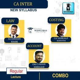 CA Inter Law and Costing and  Account Combo New Syllabus Regular Course : Video Lecture + Study Material By CA Sankalp Kanstiya & CA Darshan Khare & CMA CS Rohan Nimbalkar (For Nov.2021 & May 2022)