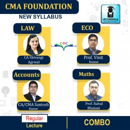 CMA FOUNDATION ACCOUNTING+ECONOMICS+BMS+ LAW & ETHICS COMBO Regular Course : Video Lecture + Study Material  (For DEC 2021 / JUNE 2022 / DEC 2022)