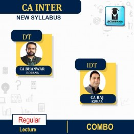 CA Inter GST + DT (Taxation) New Syllabus Regular Course : Video Lecture + Study Material by CA Raj Kumar and CA Bhanwar Borana (For May / Nov. 2021)