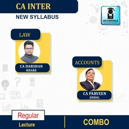 CA Inter Laws & Accounts  Regular Course Combo : Video Lecture + Study Material By CA Darshan Khare & CA Parveen Jindal  (For Nov.2021 & May 2022)