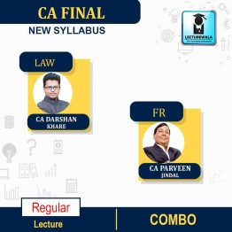 CA Final Law & FR Regular Course Combo : Video Lecture + Study Material By CA Darshan Khare and CA Parveen Jindal  (For May 2021 & Nov. 2021)