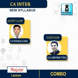 CA Inter Audit and Law & Taxation Combo New Syllabus Regular Course (Mar. 2021 Batch) : Video Lecture + Study Material By CA Pankaj Garg and CA Arvind Tuli (For May 2021 & Nov. 2021)