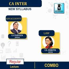 CA Inter Law & Adv. Accounts New Syllabus Regular Course : Video Lecture + Study Material by CA Ankita Patni And CA Parveen Jindal (For Nov. 2021 & May 2022)