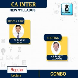 CA Inter Audit and LAW & Costing COMBO  New Syllabus Regular Course : Video Lecture + Study Material By CA PANKAJ GARG & CA SANJAY AGGARWAL for  (may 2021 to nov.2021)