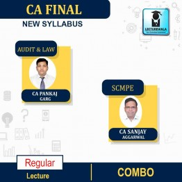 CA FINAL Audit and LAW(Aug. 2020 Batch) & SCMPE   COMBO  New Syllabus Regular Course : Video Lecture + Study Material By CA PANKAJ GARG & CA SANJAY AGGARWAL for  (may 2021 to nov.2021)