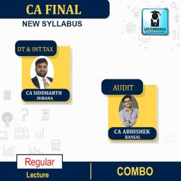 CA Final Direct Tax + International Tax & Audit And Law Combo  Regular Course : Video Lecture + Study Material By  CA Siddharth Surana & CA ABHISHEK BANSAL (For MAY 2021 TO NOV.2021)