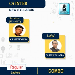 CA Inter Combo (Tax + Law )  New Syllabus Regular Course : Video Lecture + Study Material By CA Vivek  Gaba & CA Sanjeev Sapra  (For Nov. 2021)