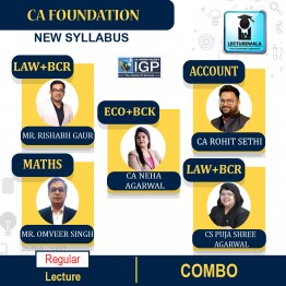 CA Foundation All Subject Combo New Syllabus Regular Course : Video Lecture + Study Material By IGP Institute (For June / Dec. 2021)