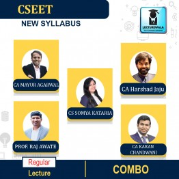 CS EET Combo - (ECO + Legal Apti + BC + LR + BE + CA ) Regular New Syllabus : Video Lecture + Study Material by Inspire Academy (For DEC 2021 / JUNE 2022)