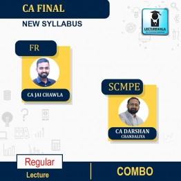 CA Final Financial Reporting And Costing (SCMPE) Combo New Syllabus Regular Course : Video Lecture + Study Material By CA Jai Chawla & CA Darshan Chandaliya  (For May 21 & Nov. 21)